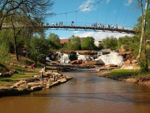 Downtown Greenville, SC (Falls Park)